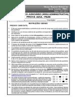 Paz8-Tecnico Judiciario (Area Administrativa)Prova Azul