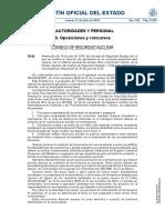 Resolución 19 Julio 2016, Con Relación Aprobados Concurso-oposición Ingreso Escala Superior Cuerpo Seguridad Nuclear