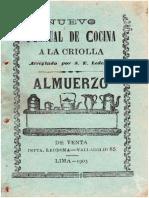 Nuevo Manual de Cocina Criolla