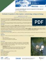 DAAD SummerSchool 2016 FreshawaterEcoystems UDE Poster