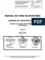 Manual Toma de Muestras Laboratorio Clinico Hggb