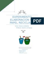 Experimento Elaboracion de Papel Reciclado