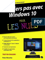 Premiers Pas Avec Windows 10 Pour Les Nuls