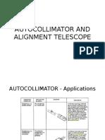 Autocollimator and Alignment Telescope