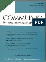 KASPERWalter UnidadeMultiplicidade_inCommunio2n3dmaio-Junho1985 . Imprimir