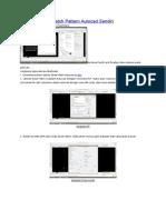 Cara Membuat Hatch Pattern Autocad Sendiri