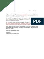 Carta de Presentacion Gustavo