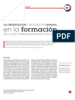 LA OBSERVACIÓN Y DESCRIPCIÓN BARRIA LA FORMACIÓN DE LA/OS TRABAJADORA/ES SOCIALES.