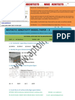 Aptoinn Nata Aesthetic Sensitivity Sample Paper - 3