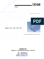 DESMI Operating Instructions DK 2A-2D-3D-4A
