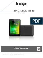 Manual. Tableta Zaapa BOGO LifeStyle 10DCI (BO-LF10DCI)