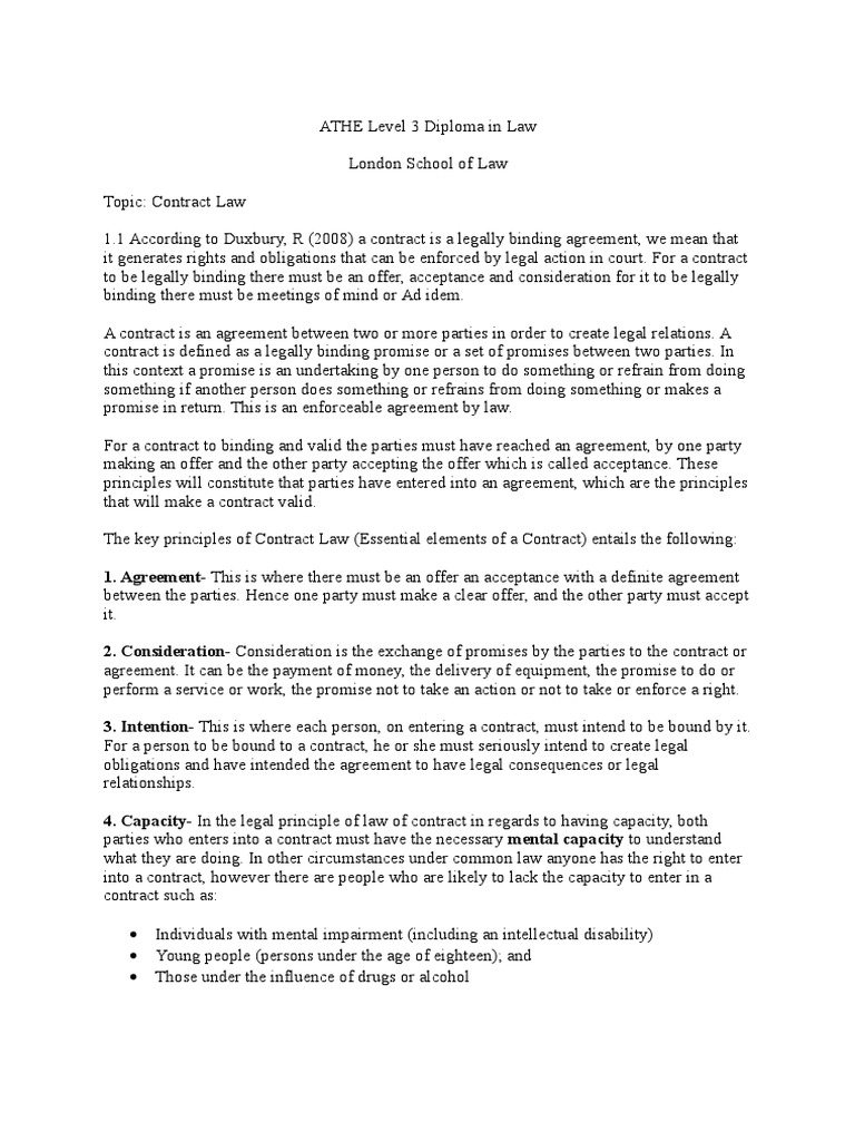 Assignment Contract Law 1 Offer And Acceptance Deed