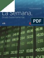 Resumen Deuda Gubernamental Banamex 14 Al 18 Diciembre 2015