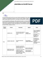 Funciones de SQL Admitidas en ArcGIS Server—Documentación
