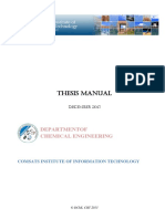 DChE-CIIT Thesis Manual 2013