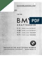 BMW R71 1939 Ersatzteilliste