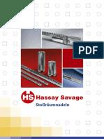 Hassay Savage Stossraeumnadeln - Katalog