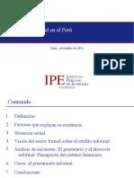 El Credito Informal Enel Peru