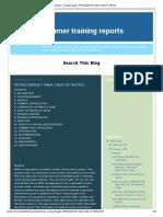 Summer Training Reports_ Pepsi(Market Analyses of Pepsi)
