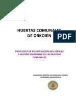 Propuesta de Reordenación del Espacio y Gestión Sostenible de las Huertas comunales de Orkoien