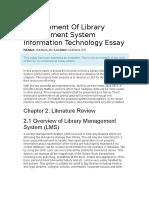 Information technology management 2 essay