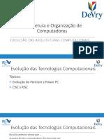 Arquitetura e Organização de Computadores - 02