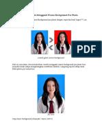 Cara Cepat Dan Mudah Mengganti Warna Background Pas Photo