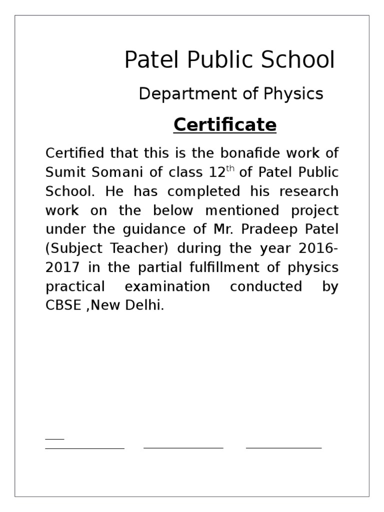 Acknowledgement for physics class 12th yelopaper Choice Image