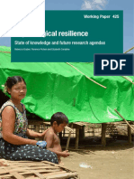 Psychological Resilience- State of Knowledge and Future Research Agendas