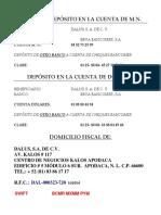 Cuentas Bancarias Mn y Dólares y Datos Fiscales (2)