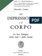 A. Lowen - La Depressione e Il Corpo