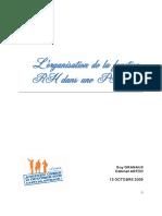 L'Organisation de La Fonction RH Dans Une PME