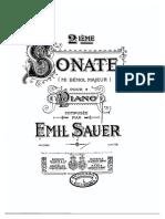 Sauer Sonata for Piano in Eb