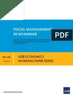ADB Fiscal Managment Myanamr