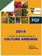 Riepilogo Costi Produzione Arboree Anno 2014 Fonte Francesco Rinaldi Ceroni