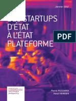 Pierre Pezziardi et Henri Verdier - Des startups d'État à l'État plateforme