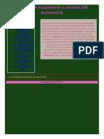 Manual de Hojalateria y Pintura Automotriz