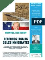 DERECHOS LEGALES DE LOS INMIGRANTES