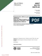 ABNT NBR IEC 60079-20 Dados de Gases