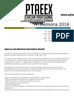 Memoria Aptaeex 2016
