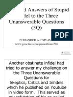 Three Unanswerable Questions (Part 2) by Periander A. Esplana