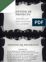 Gestión de Proyecto Jesus Zmbrano