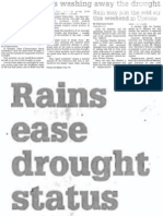 Wet Weather is Washing Away the Drought, Nov. 15, 2002