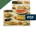 Bodegon Con Frutas y Alacran Hermenegildo Bustos