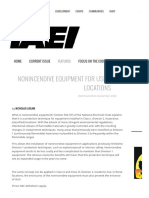 Nonincendive Equipment for Use in Hazardous (Classified) Locations ‹ IAEI Magazine
