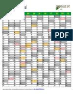 Calendario 2017 Piauí