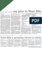 Birds Falling Prey to West Nile Nov. 25, 2002