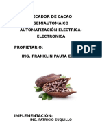 Secador de Cacao Semiautomaico