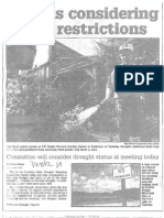 State is Considering Water Restrictions July 24, 2002