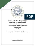 Induction Program Standards 2013